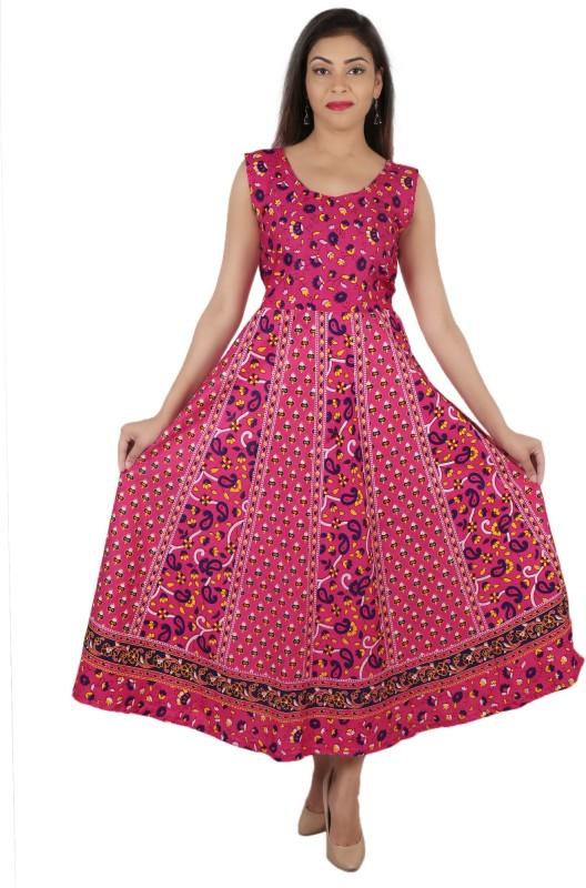 Jaipur Nagri Casual Block Print Women Kurti(Pink)