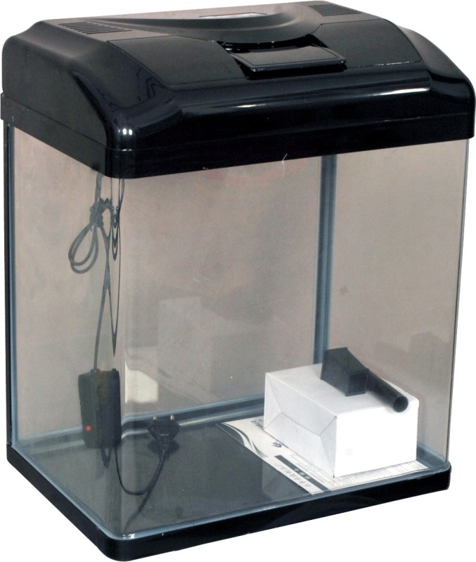 Aquapetzworld HX-380 Aquarium Fish Tank(Black)-30 L Rectangle Aquarium Tank(30)