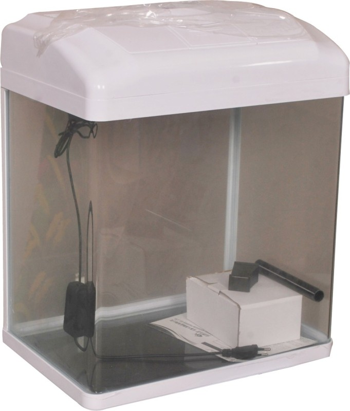 Aquapetzworld 80 Aquarium Fish Tank(White)-30 L Rectangle Aquarium Tank(30)
