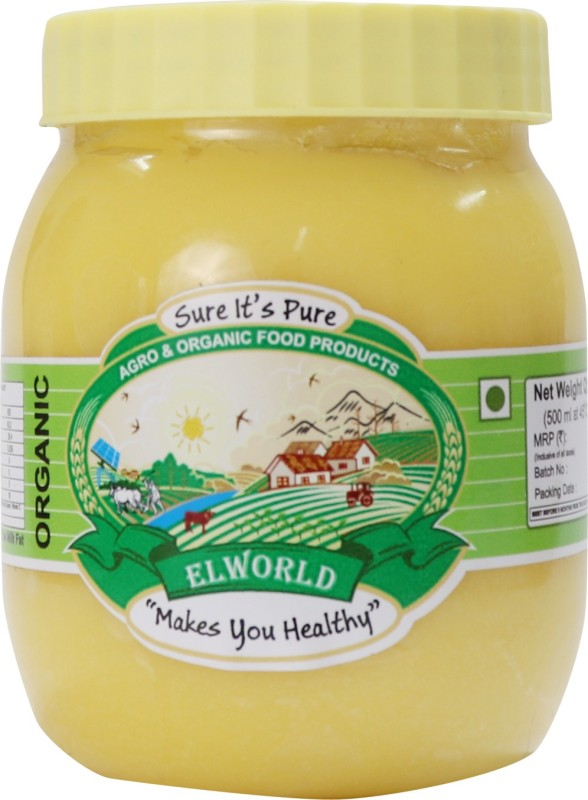 ELWORLD Organic A2 Cow Pure Ghee 500 g Plastic Bottle