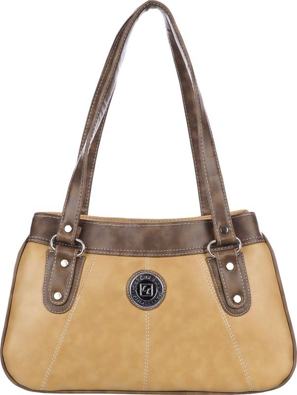Leather Land Women Khaki, Beige Shoulder Bag