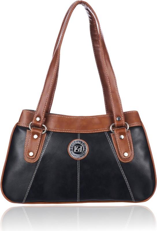 Leather Land Women Tan, Black Shoulder Bag