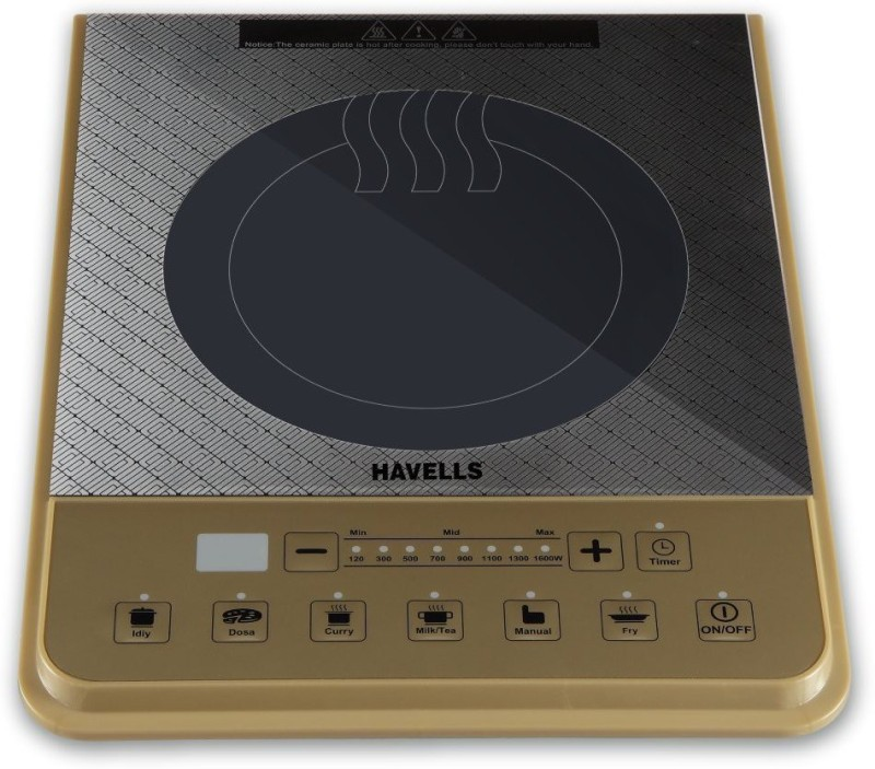 Havells Insta Cook PT Induction Cooktop(Brown, Touch Panel)