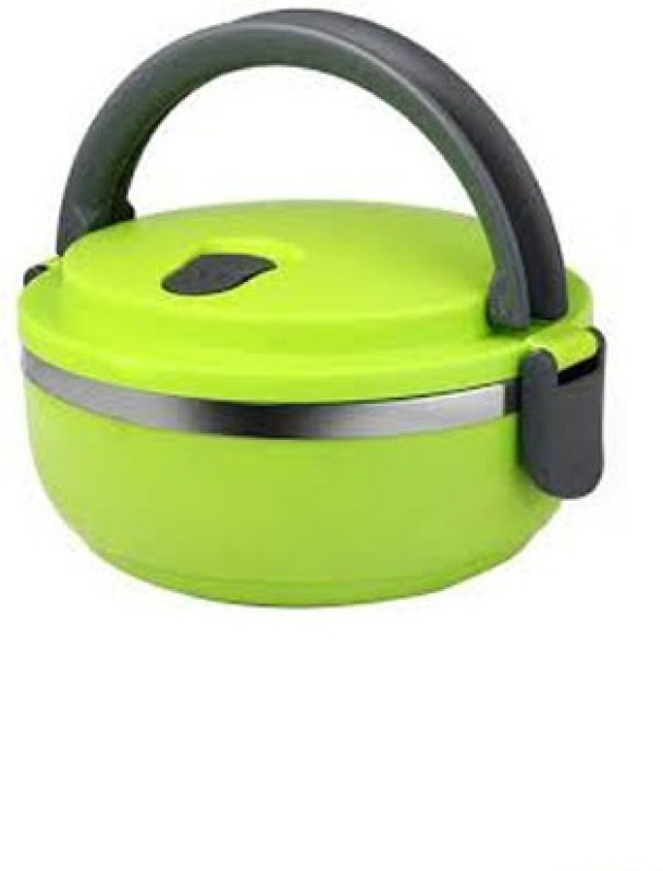LIFEMUSIC -high quality plastic -Outer casing with Stainless steel inner easily pack a nutritious lunch for you and your family best 1 Layer Round Lunch Box Stainless Steel Food Container best in price and quality Insulated Round Lunch Box Desirable For Office/School/College/Travel Airtight Leak Pro