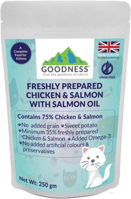 GOODNESS Grain free Salmon, Chicken 250 g Dry Cat Food