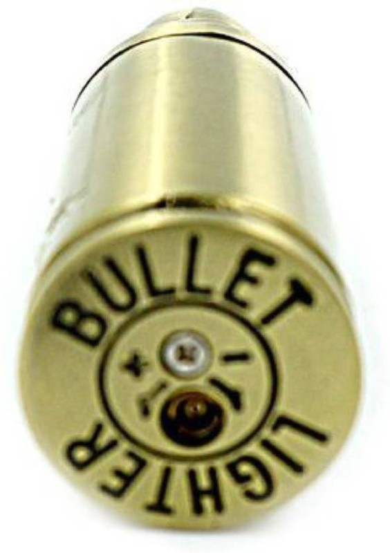 JMO27Deals Cool BULLET SINGLE HUNTER Pocket Lighter(Gold)