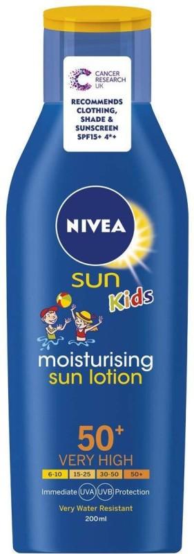 Nivea Sun Kids Spf50+ Moisturising Sun Lotion - 200 Ml(200 ml)