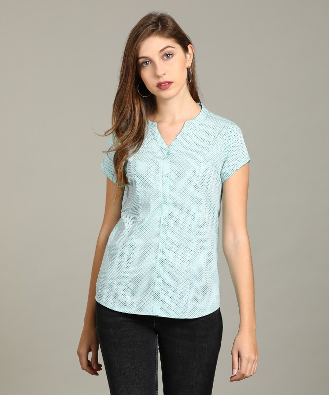 Arrow Womens Printed Casual Mandarin Shirt