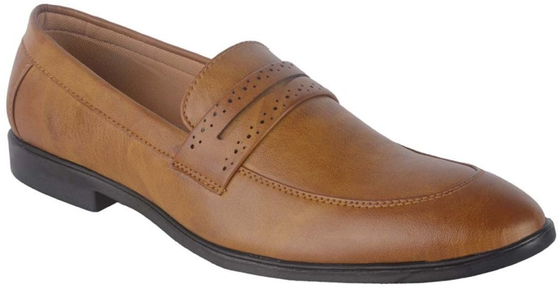 ShoeAdda Classy Party wear Slip On For Men(Tan)