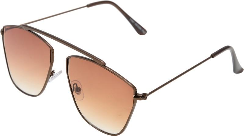 JINNY FASHION Aviator Sunglasses(Brown) image