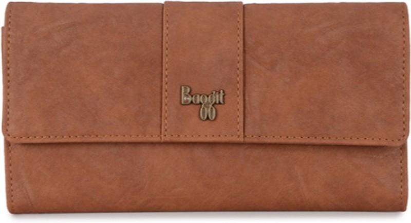 Baggit Women Formal Tan Artificial Leather Wallet(6 Card Slots)