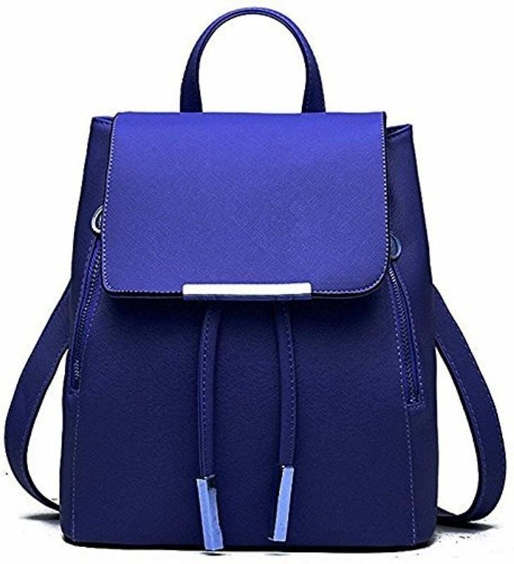SALEBOX Metal Flap with Magnetic Snap 10 L Backpack(Blue)