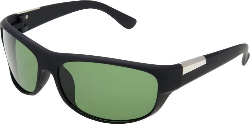 JINNY FASHION Wrap-around Sunglasses(Green) image