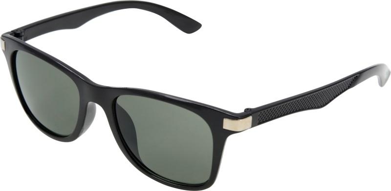 JINNY FASHION Wayfarer Sunglasses(Black) image