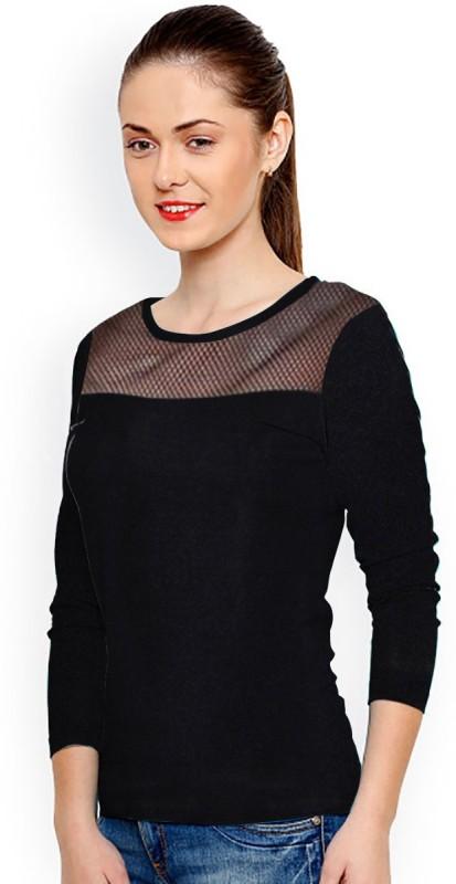 Rudra Enterprise Casual Full Sleeve Stylised Women's Black Top