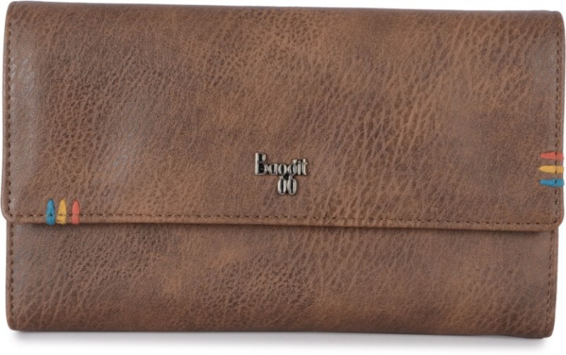Baggit Women Casual Brown Artificial Leather Wallet(8 Card Slots)