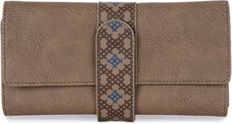 Baggit Women Casual Beige Artificial Leather Wallet(8 Card Slots)