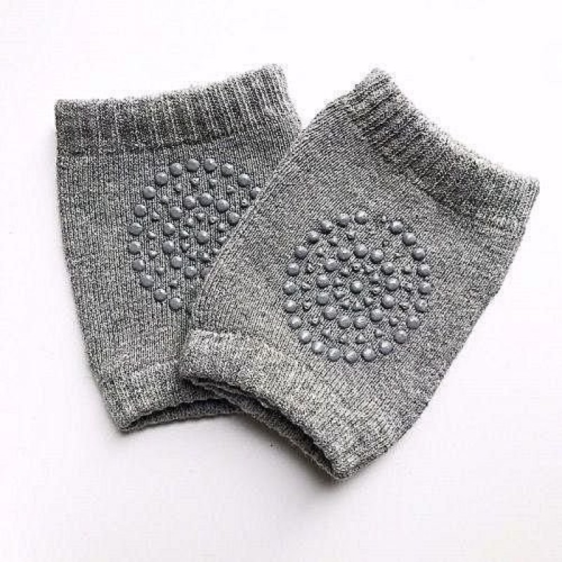 House of Quirk Baby Crawling Anti-Slip Knee pads 1 Pairs Baby Toddlers Kneepads - Dark Grey Dark Grey Baby Knee Pads(Finish)