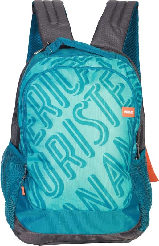 American Tourister POP 01 Backpack (Teal / Grey ) 22 L Backpack(Blue)