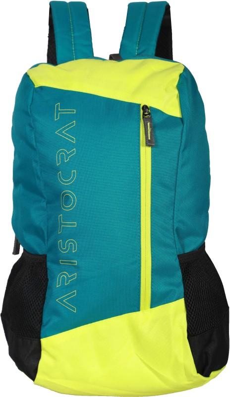 Aristocrat Z2 Backpack Sky (Blue-Lime Green) 22 L Backpack(Multicolor)