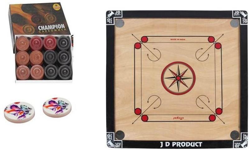 JD Sports ich carrom board 26 inch Carrom Board(Black)