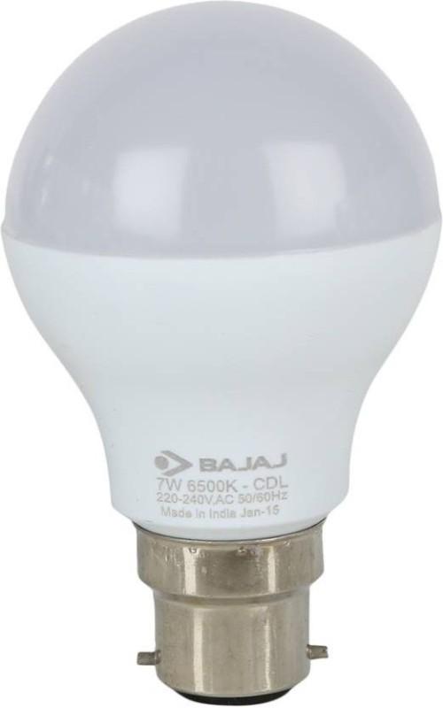 Bajaj 7 W Round B22 LED Bulb(White)
