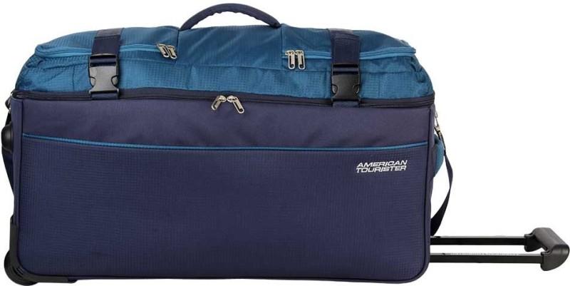 American Tourister TURIN WHEEL DUFFLE 55CM TEAL Duffel Strolley Bag(Blue) 1b724ab5b48df