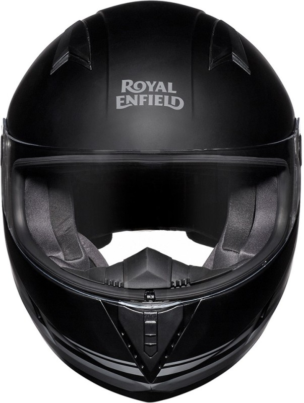 Royal Enfield FF Motorbike Helmet(Matt Black, Grey)