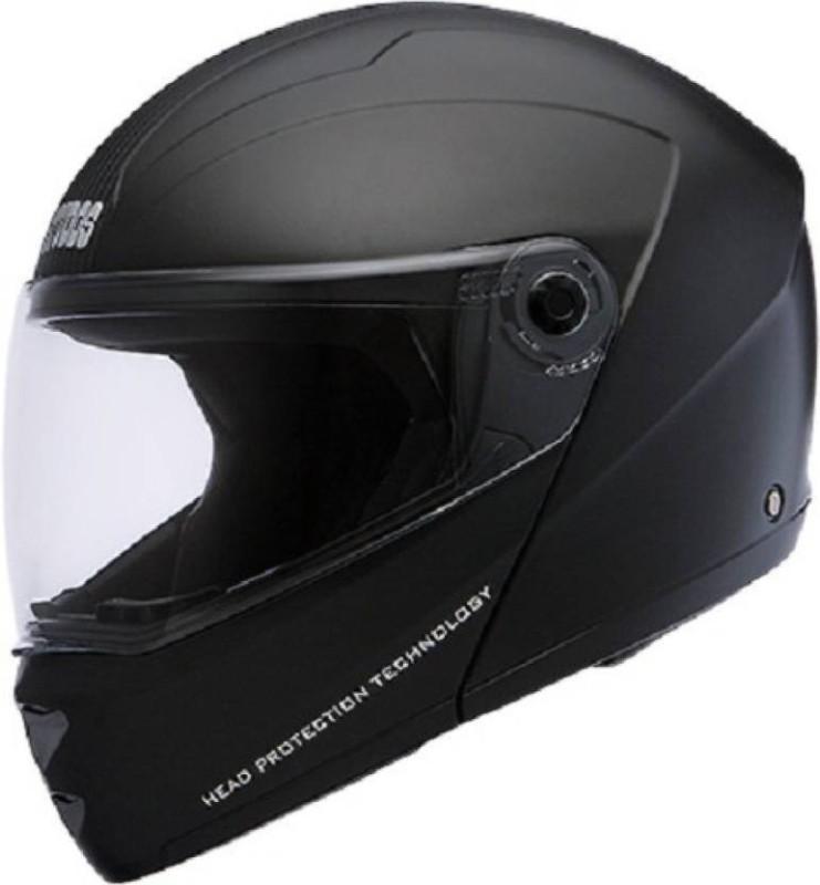 Studds Ninja Elite with Murcury Visor Flipup Fiber ISI Certified Motorsports Helmet Motorbike Helmet(Black)