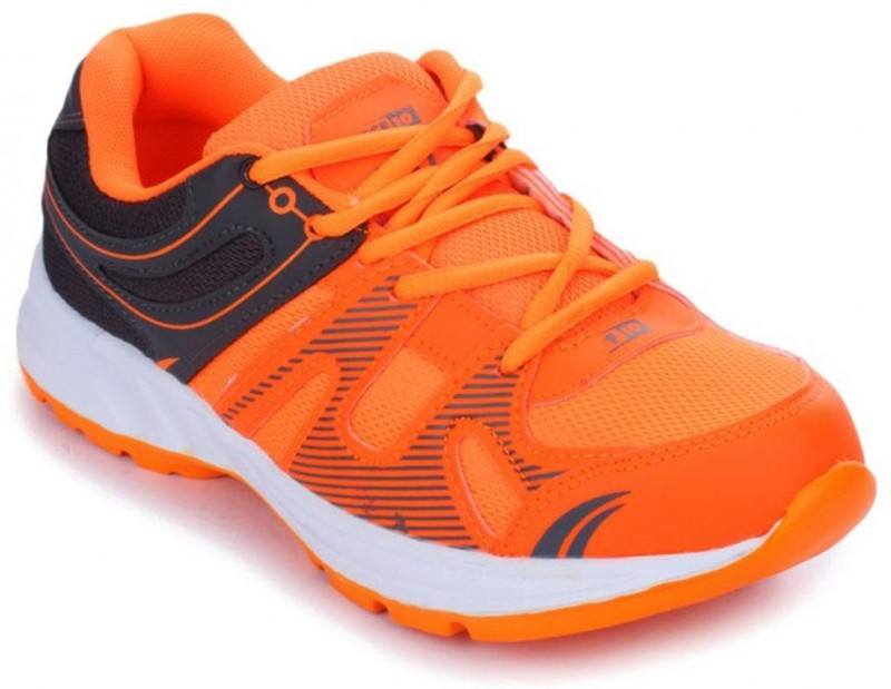 Liberty FORCE-10 Running Shoes For Men(Grey, Orange)