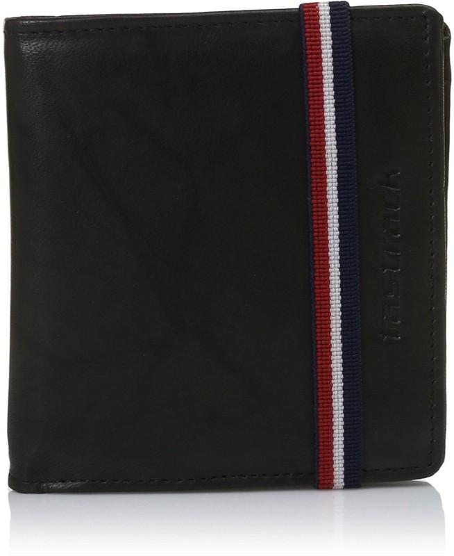 Fastrack Men Casual Black Genuine Leather Wallet(6 Card Slots)