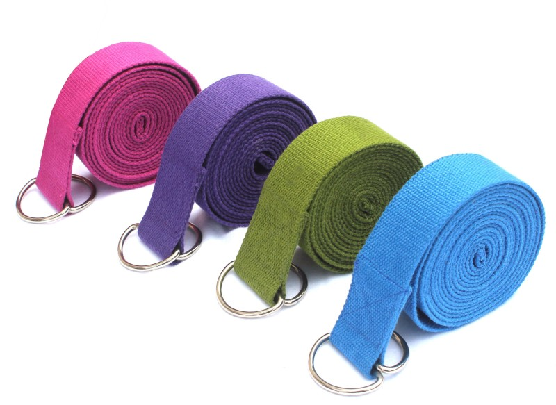 Ryan We get any One Assorted Strap Cotton Yoga Strap(Multicolor)