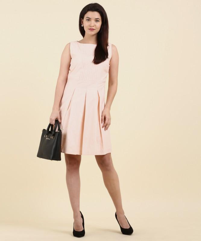 Allen Solly Womens Shift Orange Dress