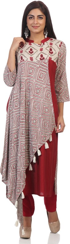 ARK Casual Printed Women's Kurti(Multicolor)