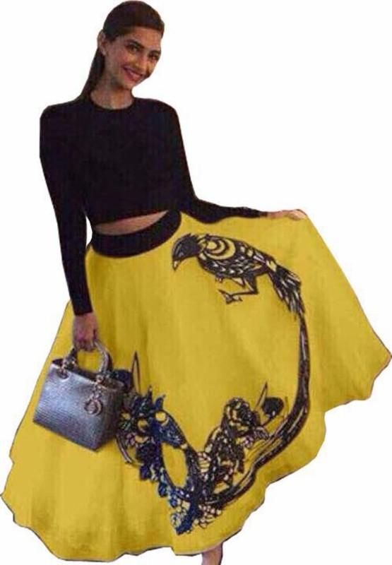 ELDC Printed Lehenga Choli(Yellow)