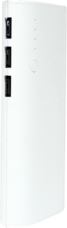 King 15000 Power Bank (fast charge LP, With 3 USB Ports)(White, Lithium-ion)