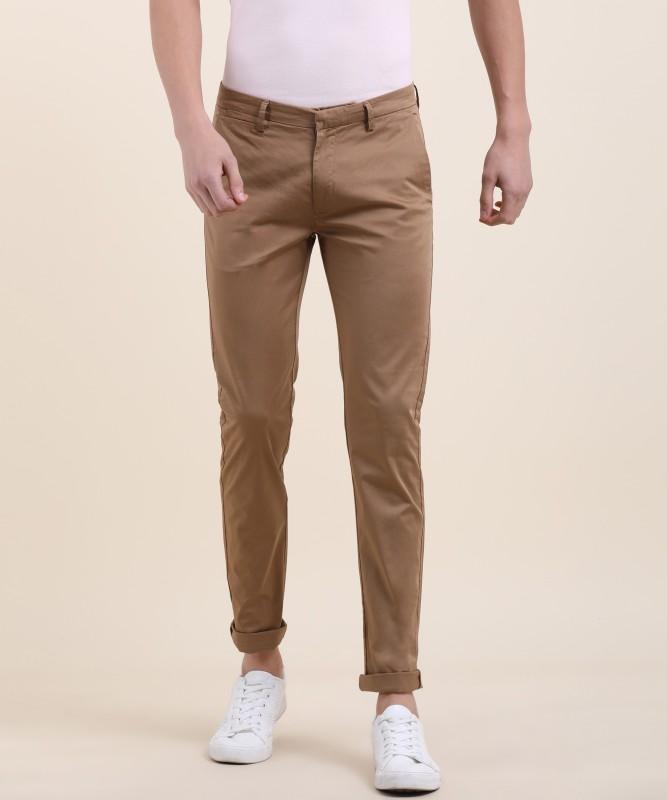 Spykar Anatol Skinny Fit Men Beige Trousers