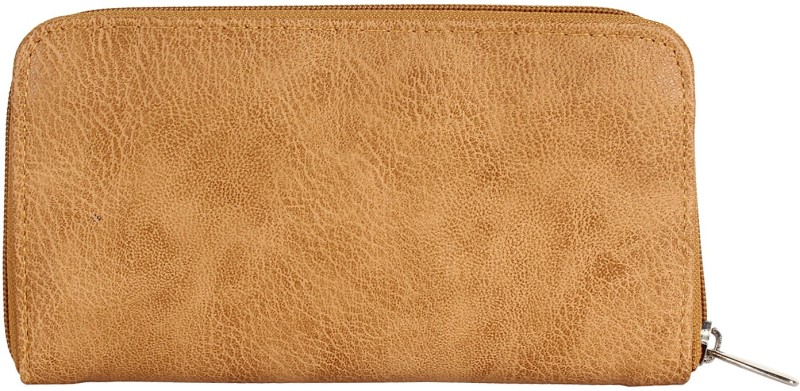 Anekaant Women Casual Beige Artificial Leather Wallet(6 Card Slots)