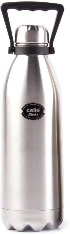 Cello present Swift Silver Thermo bottel 1800ml stainless steel flask series with inside copper coating for better heat retention and 100% insulated stainless steel 1800 ml Flask(Pack of 1, Silver)