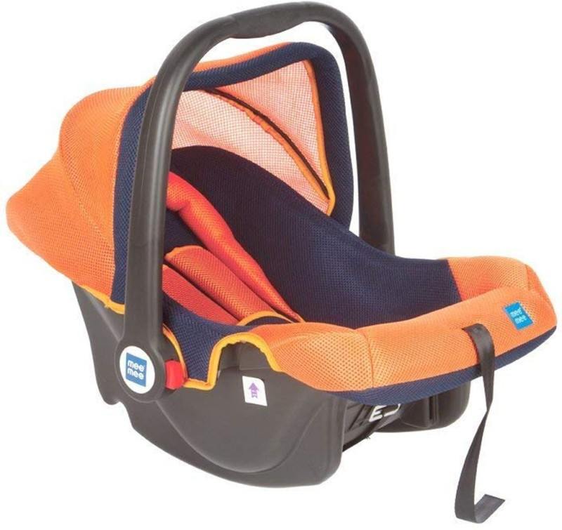 MeeMee Baby Car Seat Cum Carry Cot with Thick Cushioned Seat Baby Car Seats Car Seat(Orange)