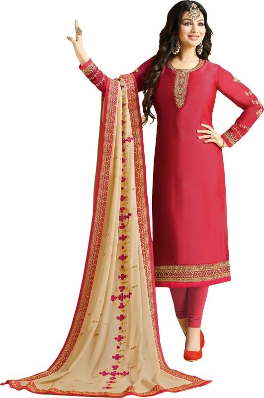 4f7a6d110f justkartit Satin Embroidered Semi-stitched Salwar Suit Dupatta Material