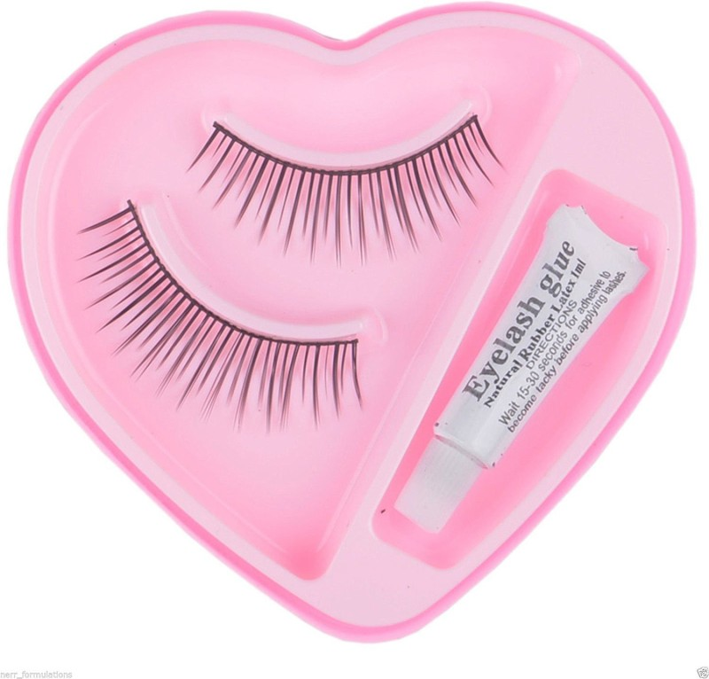 NERR Soft Natural Black Thick Long False Eyelashes Makeup Extension Pack Of2Pair Fake Eyelashes(Pack of 1)