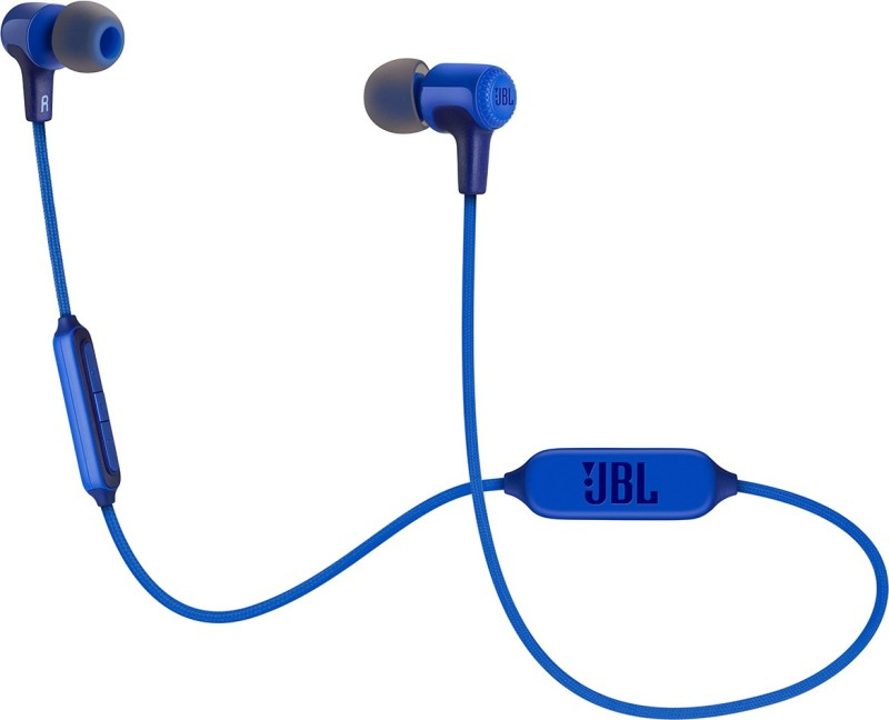 JBL E25BT Bluetooth Headset with Mic(Blue, In the Ear)