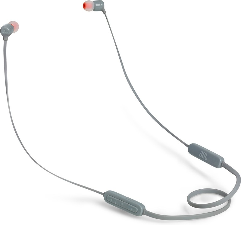 JBL T**BT Wireless Pure Bass Bluetooth Headset with Mic(Grey, In the Ear)