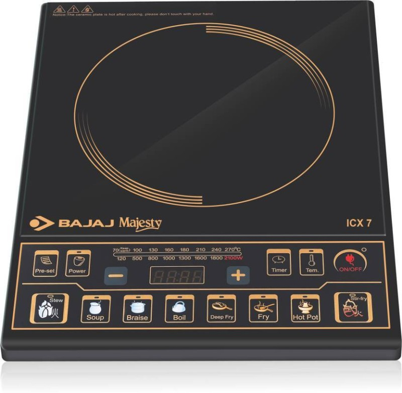 Bajaj INDUCTION ICX-7 Induction Cooktop(Black, Push Button)