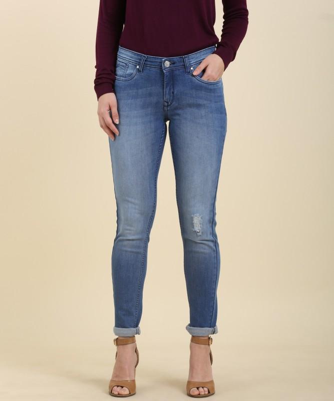 Allen Solly Mariia Regular Womens Blue Jeans