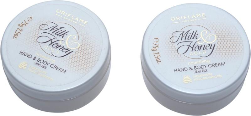 Oriflame Sweden MILK & HONEY GOLD HAND & BODY CREAM (SMALL PACK) (PACK OF 2)(75 g)