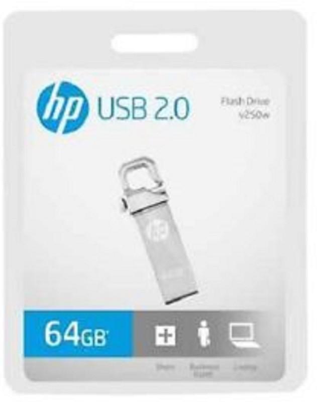 HP W 250-wX 64 GB Pen Drive(Silver)