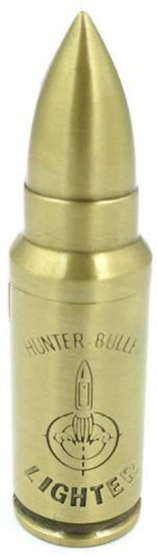 JMO27Deals Stylish BULLET SINGLE HUNTER Pocket Lighter(Gold)
