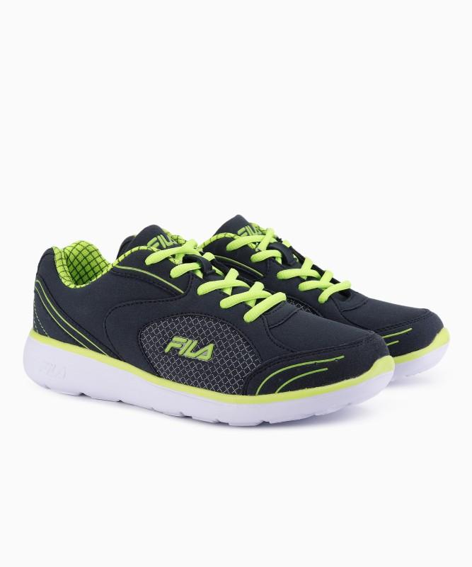 Fila DOVE IV Running Shoes For Women(Green, Navy)